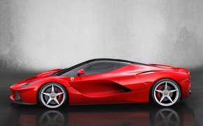 Picture auto, car, Ferrari, Ferrari, side view, 2013, LaFerrari