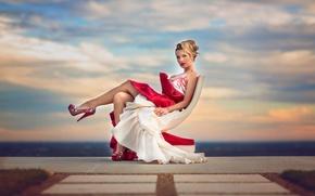 Picture dress, shoes, legs, Julia Altork, Luxury #2