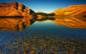 Picture water, mountains, lake, reflection