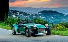 Picture road, car, city, the city, background, widescreen, Wallpaper, the evening, wallpaper, Roadster, car, British, road, …