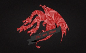 Picture red, dragon, A Song of Ice and Fire, Game of Thrones, House Targaryen, Fire and …