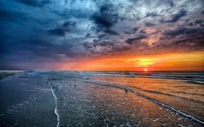 Picture sand, sea, beach, the sky, the sun, landscape, sunset, nature, the ocean, dawn, beach, sky, …