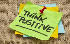Picture paper, ink, quote, think positive