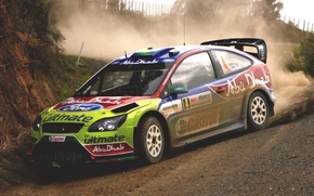 Picture Ford, Auto, Sport, Machine, Race, Skid, Focus, WRC, Rally, Rally