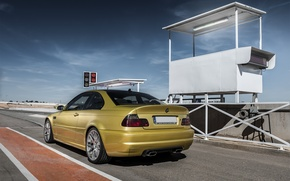Picture BMW, BMW, gold, track, E46, gold