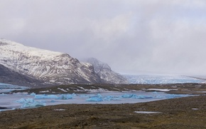 Picture Iceland, Southeast Iceland, Fjallsarlon glacier lagoon