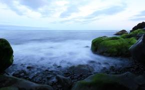 Wallpaper water, rocks, stones