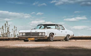 Picture the sky, clouds, Chevrolet, Parking, GMC, Lowrider