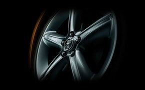 Picture Mustang, Ford, minimalism, wheel, disk, Mishina