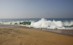 Picture sea, beach, foam, nature, background, Wallpaper, wave