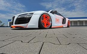 Picture Audi, Orange, wheels, Car, White, XXX Performance, r8