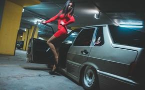 Picture machine, girl, Auto, legs, Lada, auto, Lada, VAZ, BPAN, 2115, Without Landing Auto No
