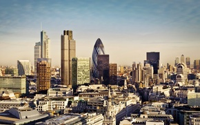 Picture skyscrapers, London, England, London, the city, building, England, 30 St Mary Axe, skyscrapers, Canada Square, …