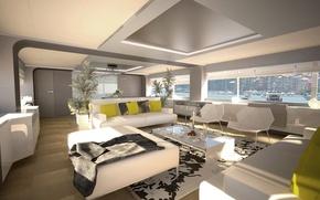 Picture design, style, interior, yacht, salon, Suite, superyacht, Wider-150