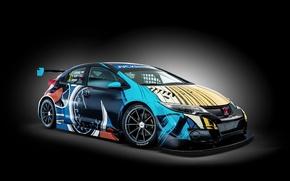 Picture Honda, black background, Honda, Civic, civici