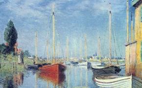 Picture landscape, picture, Claude Monet, Argenteuil. Yachts