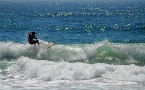 Wallpaper sea, wave, surfing