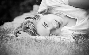 Picture look, widescreen, mood, widescreen, background, black and white, widescreen, face, HD wallpapers, Wallpaper, girl, full ...