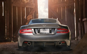 Picture pipe, Aston Martin, lights, DBS, the barn, supercar, bumper, photography, Nikita Nike, exhaust