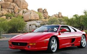 Picture car, auto, Ferrari, red, red, F355