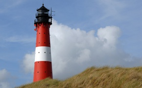 Picture the sky, grass, clouds, lighthouse