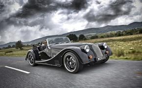 Picture Black, Morgan, 2014, Morgan Sports Car, Black Wheels, Model 8