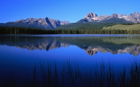 Wallpaper mountain, lake, blue, nature, nature