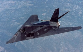 Wallpaper Photo, Flight, Height, Lockheed, The plane, Tactical, F-117, Shock, Subsonic, Single, Nighthawk, Unobtrusive
