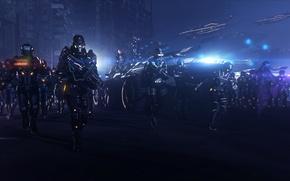 Picture night, army, earth, battle, mass effect, Rover, alliance, M35 Mako, mako