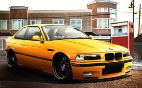 Picture car, auto, BMW, tuning, bmw m3, E36, auto wallpaper