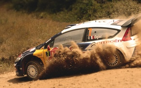 Picture Auto, Sport, Machine, Turn, Skid, Citroen, WRC, Rally, Rally