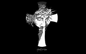 Picture desktop, wallpaper, black, cross, rendering, God, Christ, Jesus, Jesus Christ, Redeemer