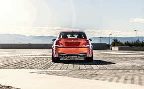 Picture orange, BMW, BMW, back, orange, 1 series