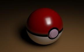 Picture white, red, background, brown, pokemon, pokemon, pokebol
