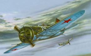 "Wallpaper prosecution, figure, battle in the sky, -16, ""the donkey"""