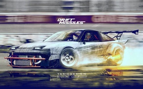 Picture nissan, drift, speedhunters, 240sx, yasiddesign