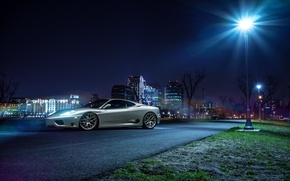 Picture Ferrari, Car, 360, Front, Modena, Wheels, Before, Garde, Ligth, Nigth