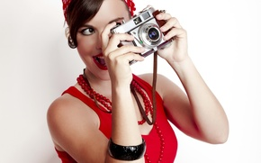 Picture girl, retro, mood, modern, the camera, beautiful, pin-up, style, pin-up, click, you, Wikimania, removed, photographic