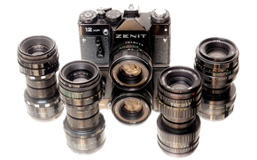 Picture camera, Zenit, lenses, Helios