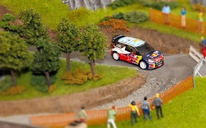 Picture Turn, Citroen, Citroen, DS3, WRC, Rally, Rally, S. Loeb, Layout, Diorama