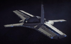 Picture space, ship, Mass Effect, Academy