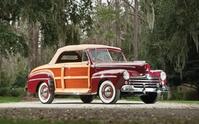 Picture retro, Ford, car, cars, classic, Super, 1948, Convertible, Deluxe, Sportsman