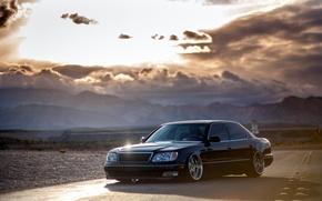 Picture Lexus, black, VIP, 430, frontside