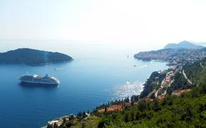 Picture sea, blue, coast, Dubrovnik, Dubrovnik, Lokrum
