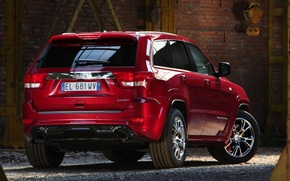 Picture red, Jeep, SRT8, rear view, Jeep, СРТ8, Grand Cherokee, Grand Cheroke