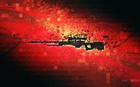 Picture pixels, counter strike, rifle, global offensive, csgo, redline, awp, cs go