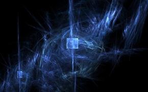 Wallpaper gas, smoke, space, background, square