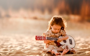 Picture sand, guitar, girl, Tunes From My Soul