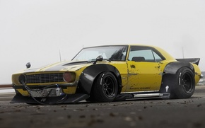 Picture Chevrolet, 1969, Camaro, Yellow, Tuning, Future, by Khyzyl Saleem