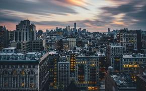 Wallpaper new York, the city, night, lights, skyscrapers, new york, city
